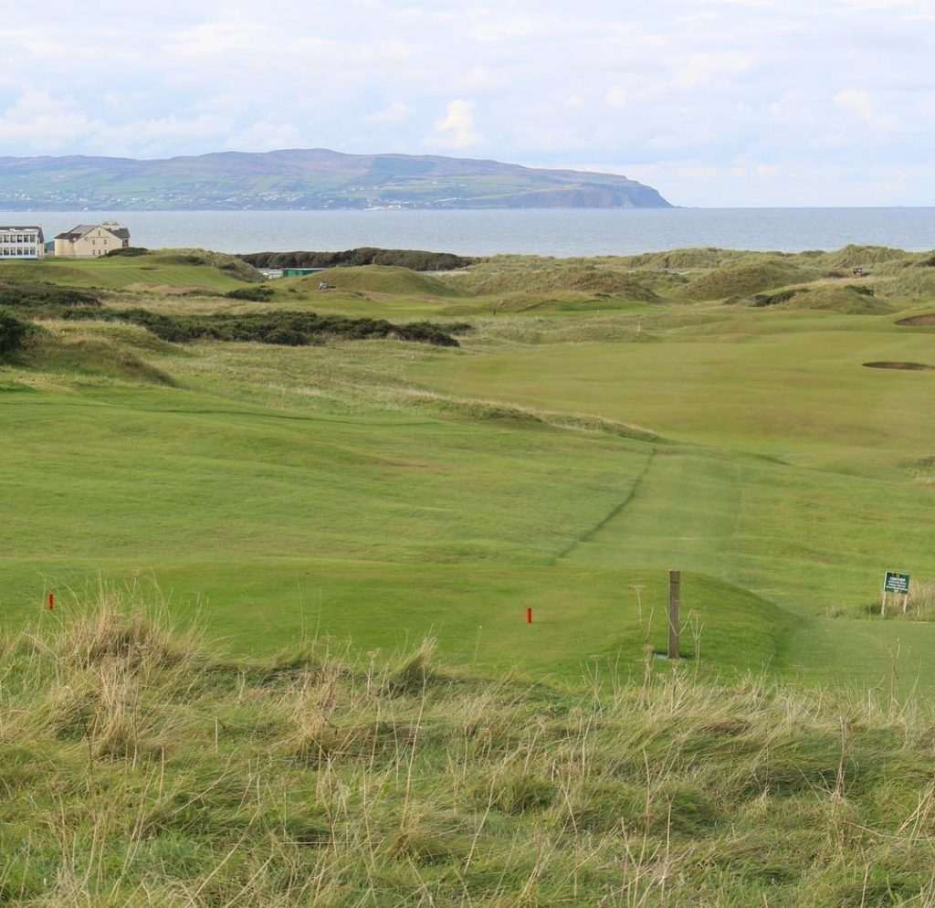 Castlerock GC Mussenden Course Hole 17 Par 5 Antrim Coasthellip