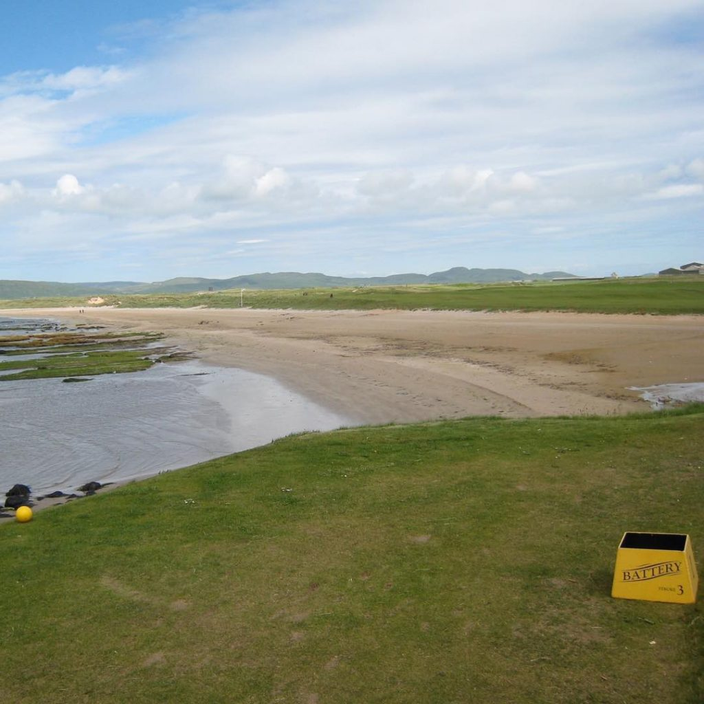 Machrihanish GC Scotland The famous hole 1 with the drivehellip