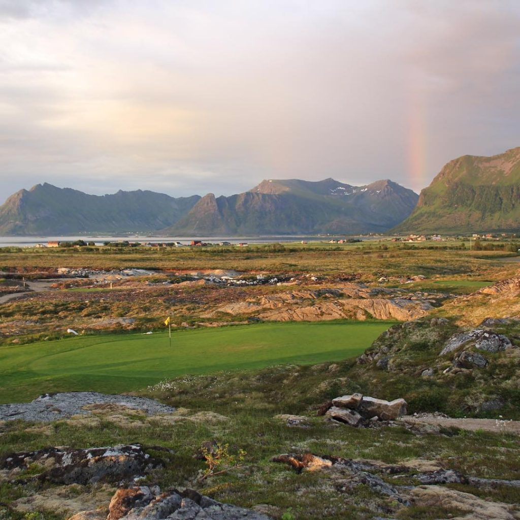Midnight Golf on the Lofoten islands in Norway Awesome experiencehellip