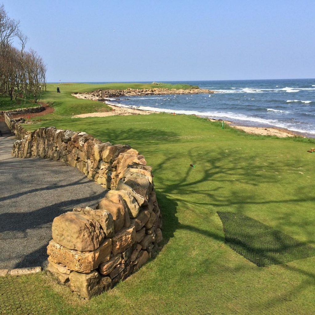 Hole 15 at Kingsbarns Always better here to approach morehellip