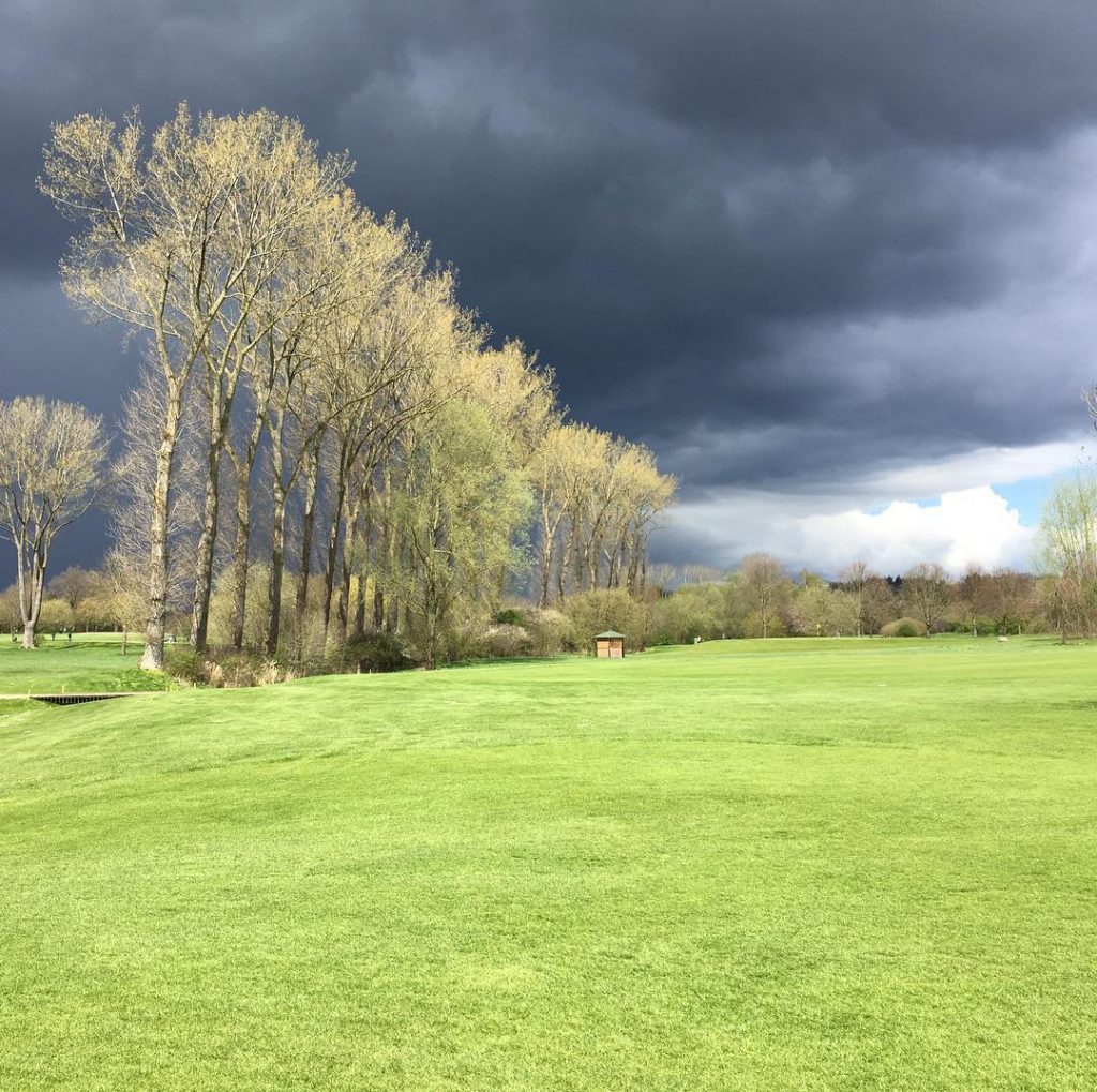 Interesting weather yesterday at hole 15 at my homeclub golfhellip