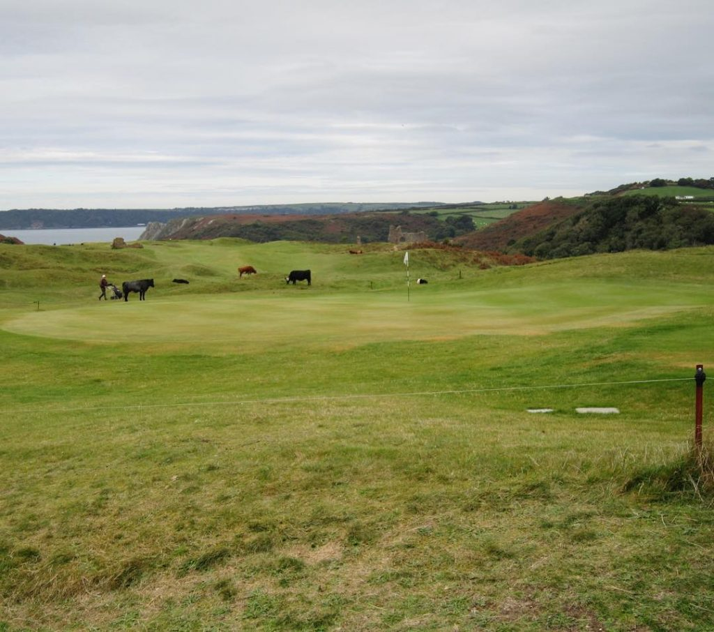 Pennard The Links in the sky Great course with nicehellip
