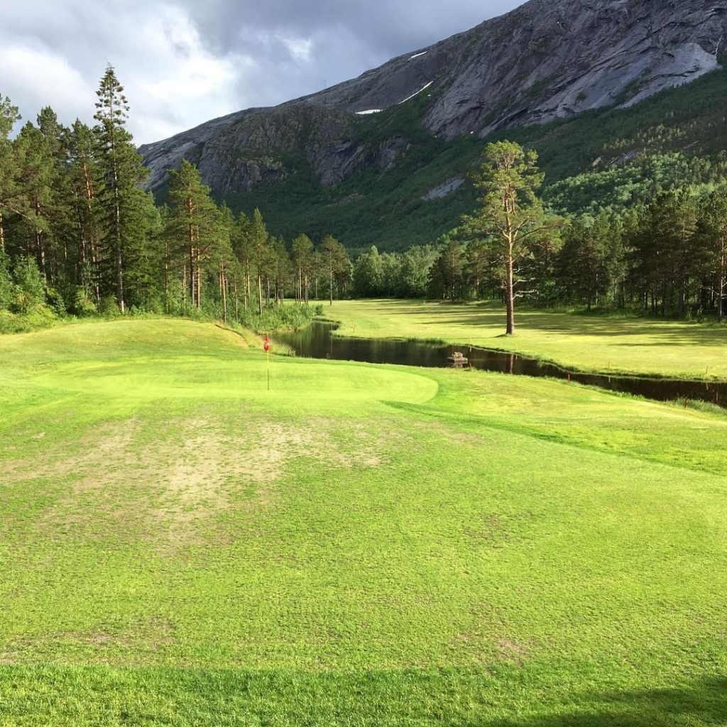 Skjomen Golfpark Narvik in Norway One of the most northerlyhellip
