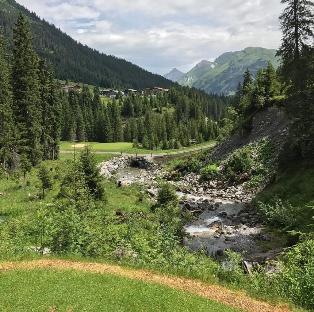 Nice Par 3 Hole 7 at Lech GC in Vorarlberghellip