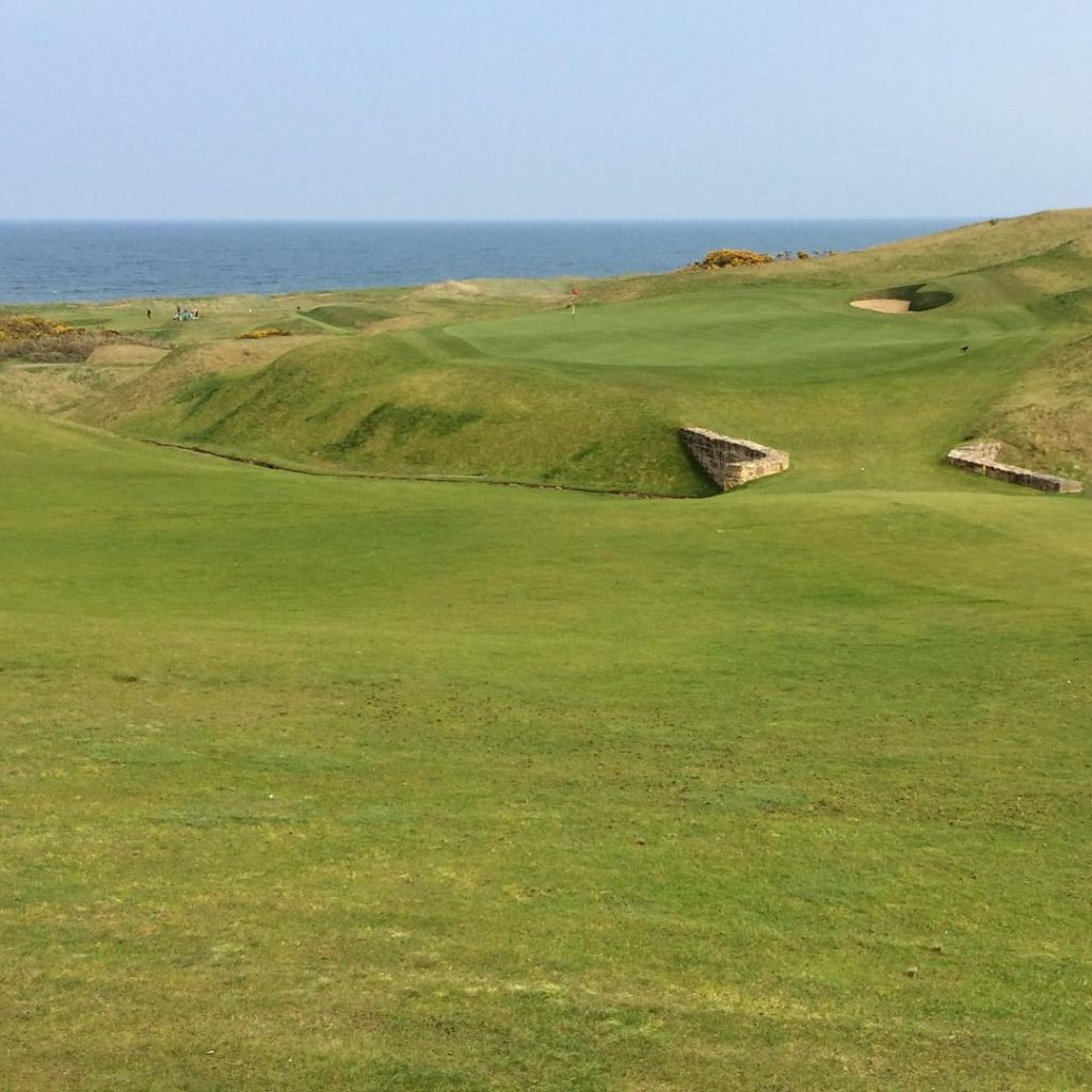 Kingsbarns GC Green Hole 18 A Kyle Phillips course golfhellip
