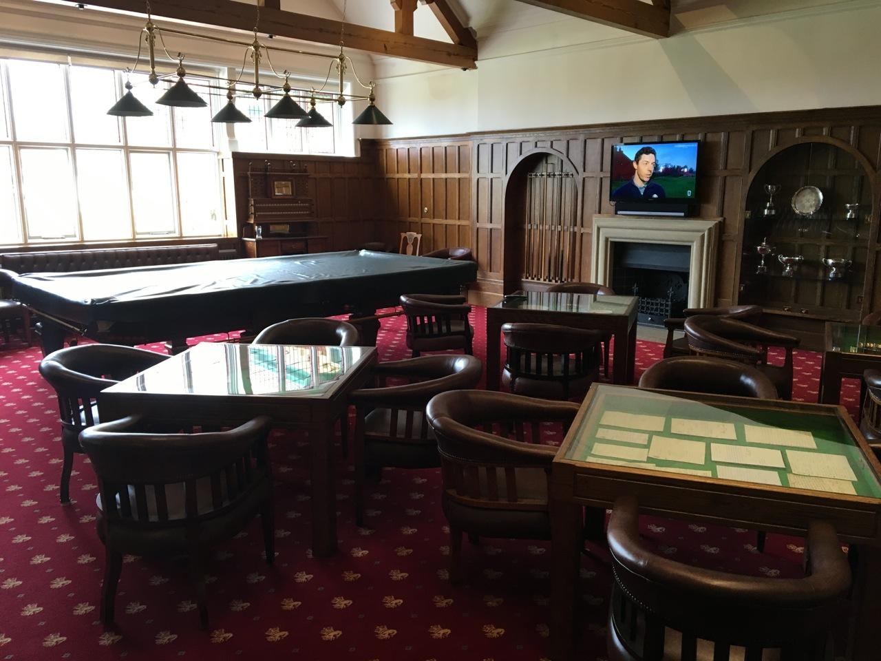 Der Snooker Raum