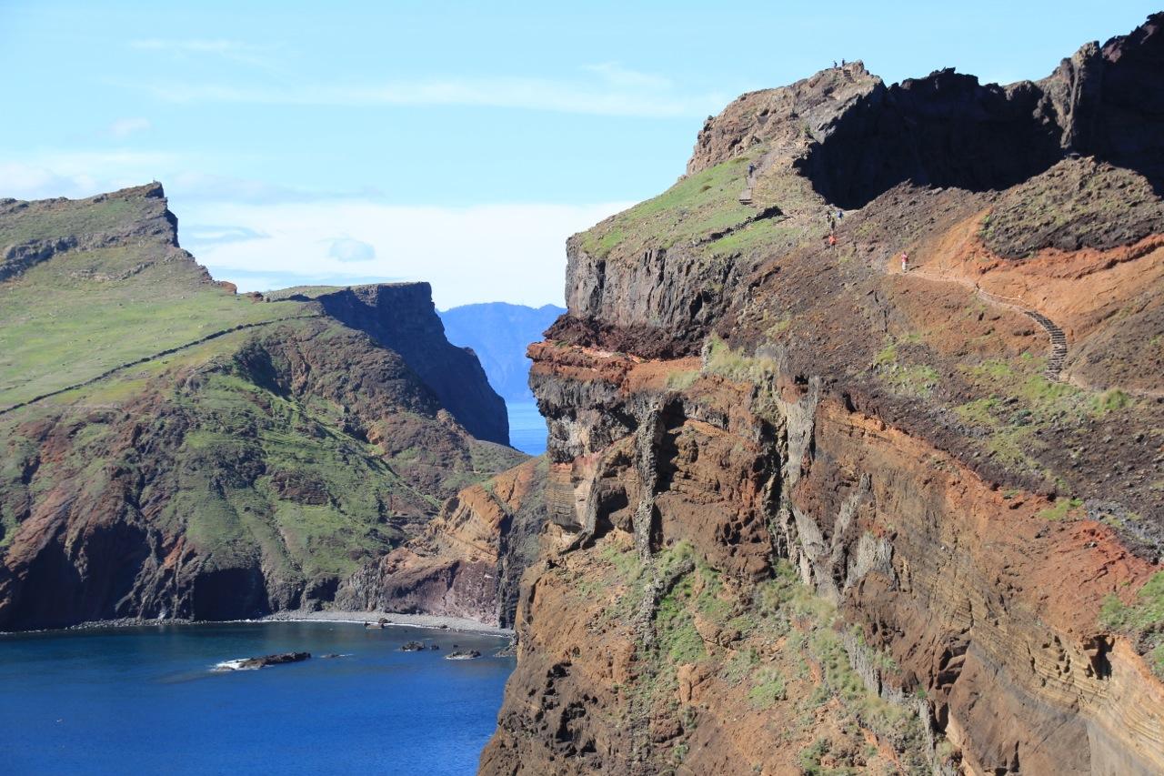 Wanderweg auf der Ostspitze der Insel. Ganz schön steil teilweise...