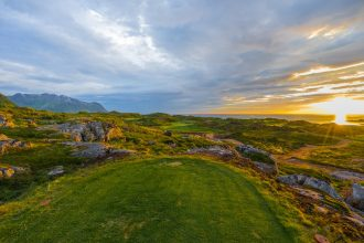 Lofoten Golf Links, Norwegen, Loch 9