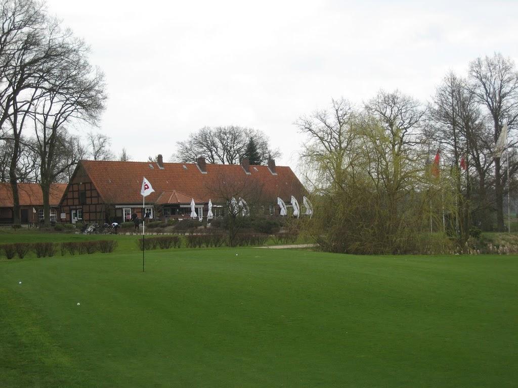Grün 18 und Clubhaus