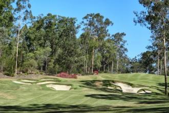 Grün 18 des Brookwater Golf Club