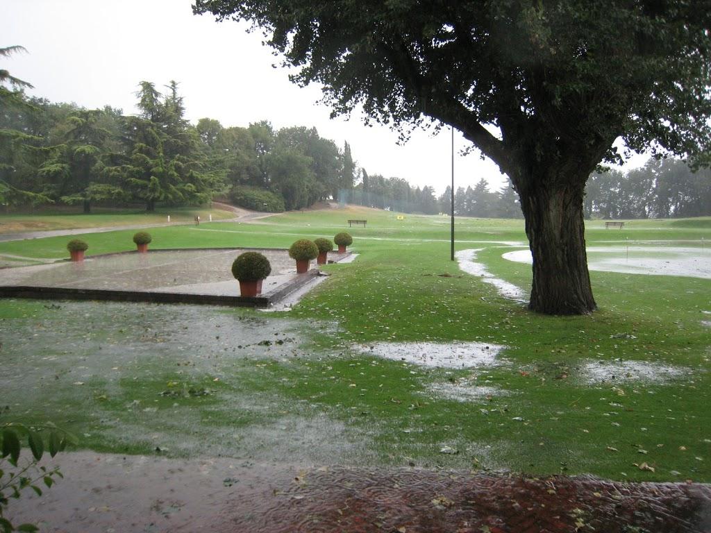 Blick aus dem Clubhaus nach dem Sturm