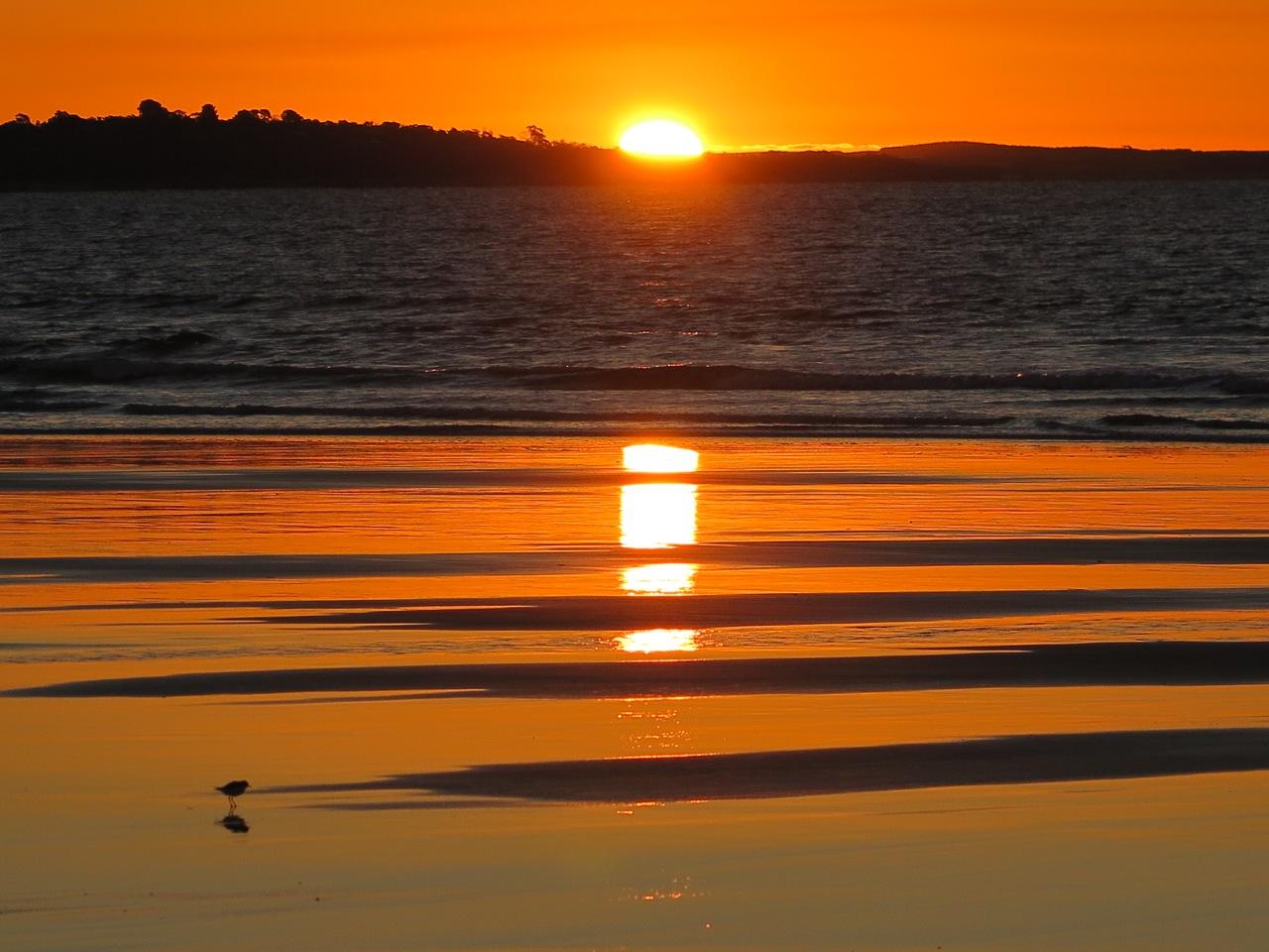Sonnenuntergang an der Bass Strait von Lost Farm