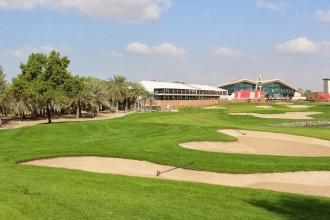 Abu Dhabi Golfclub, Loch 18. Wo jeder (ausser ich) eine Eaglechance hat...