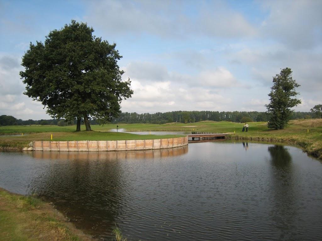 Damenabschlag Loch 9 (mehr Inseltee als Inselgrün)