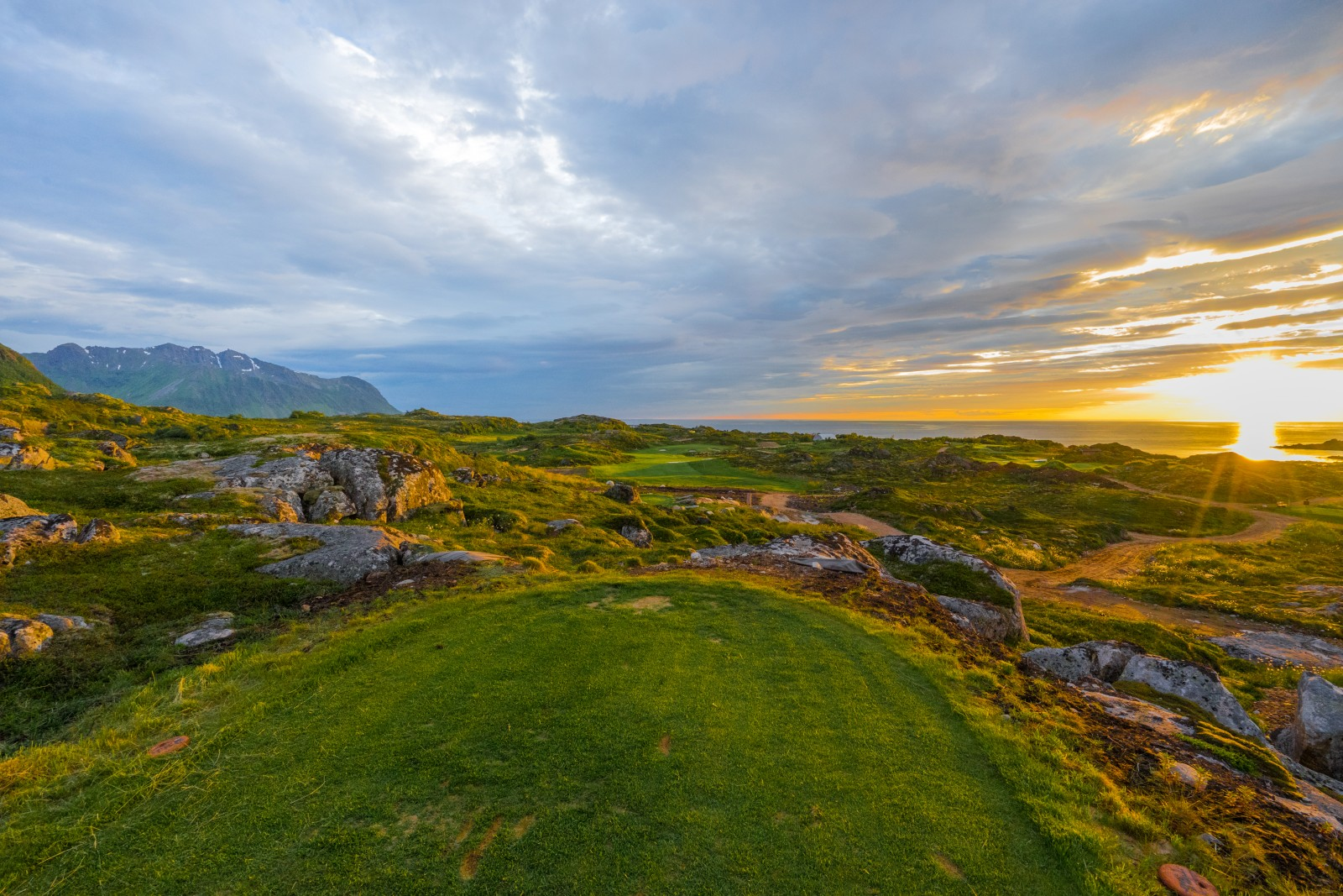 Lofoten Golf Links, Norwegen, Loch 9