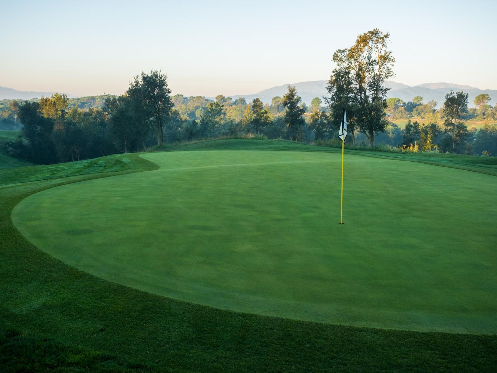PGA Catalunya Stadium Course: Das Grün von Loch 6
