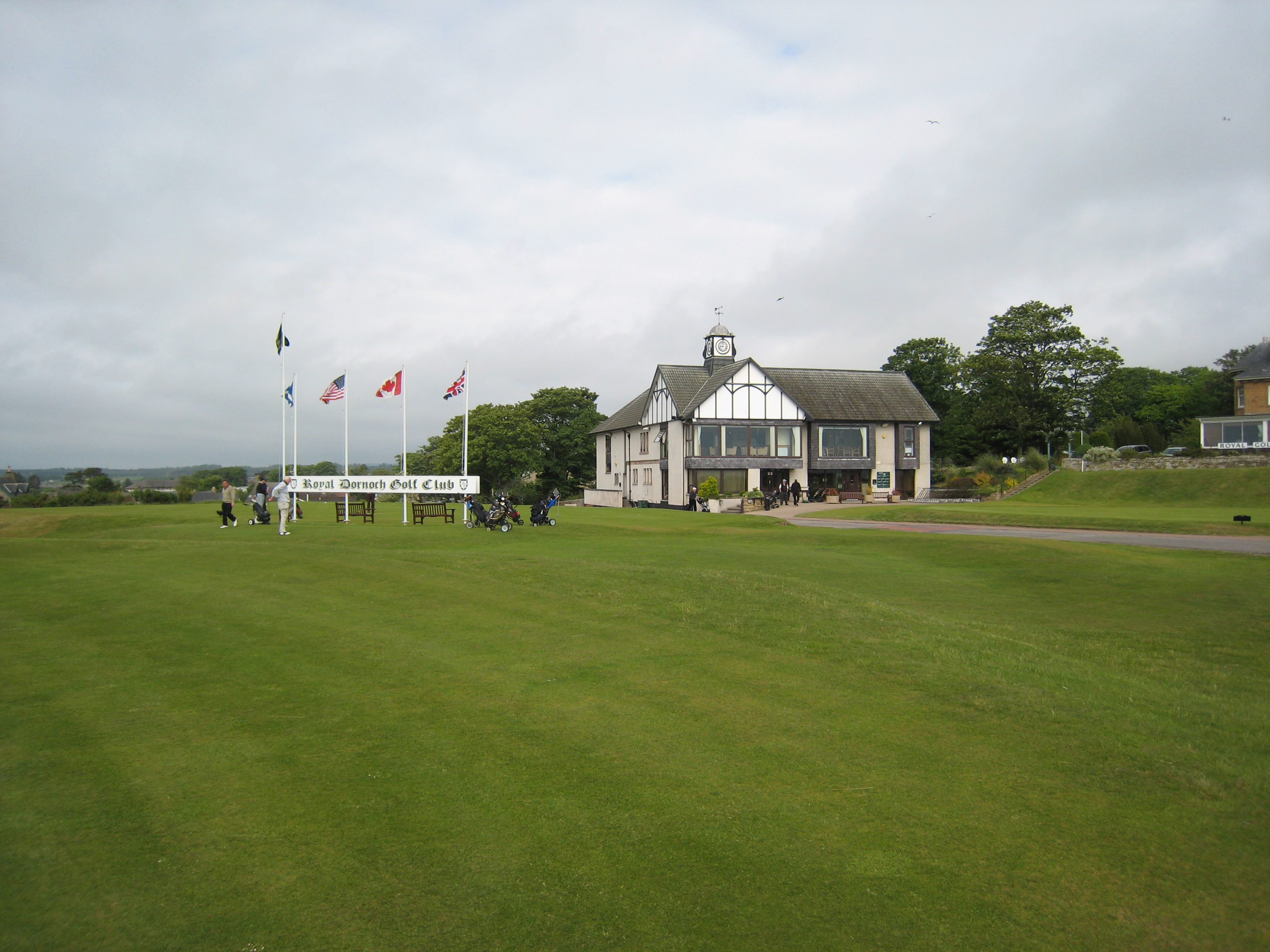 Das Clubhaus von Royal Dornoch